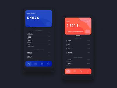 Dribbble Shot 02 HD – Financial Mobile App