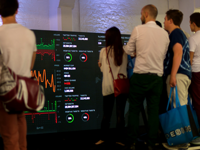 Project Sentysis - LED Display (Archive) exhibition data charting ui design