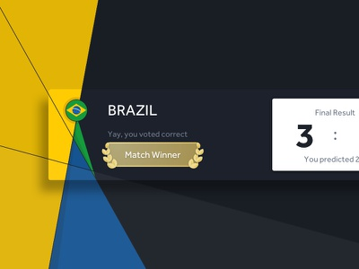World Cup 2018 - scoreboard (Archive) web ui design