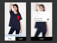 Fashion App Login Concept