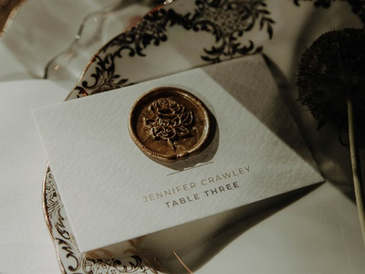 Wax Seal Place Cards etsy etsy shop wedding print design wedding card gold wax wedding stationery place card wax seal