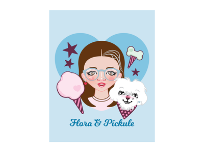 Poodle Floss, Flora and Pickule houtx vector art custom illustration illustration kawaii digital illustration digital art houston katsola
