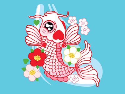 Asia Society Texas Lunar New Year Japan vector vector art design digital illustration digital art houtx kawaii katsola custom illustration houston