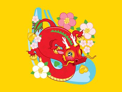 Asia Society Texas Lunar New Year, China vector art vector digital illustration illustration digital art houtx kawaii custom illustration katsola houston