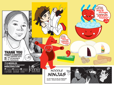 JNH Logan's Menu through the years houtx vector design digital art digital illustration vector art kawaii custom illustration katsola houston