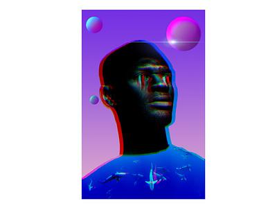 Just Breathe collage graphic design