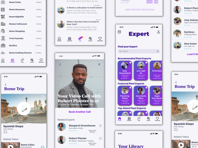 Expert: Responsive App Pairing Knowledge Seekers with Experts prototyping wireframing user research usability testing photoshop design ux ui