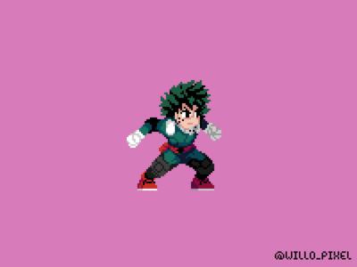 Izuku Midoriya Pixel Fan Art
