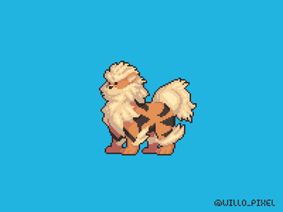 Arcanine Pixel Fan Art