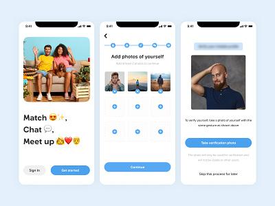 Dating App - User enrollment sign up verification mobile app onboarding dating app
