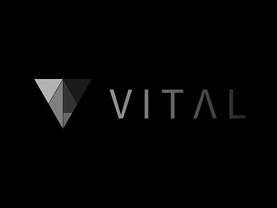 vital. logo illustration icon flat design