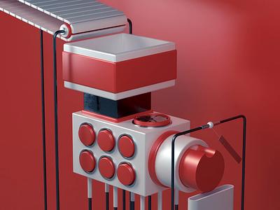 The Pokéball Factory - Part 1 geometric factory pokeball pokemon octane render octane cinema 4d c4d animation