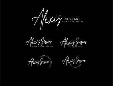 Logotipo Alexis Serrano, Profesional del Color en Panama vector publicidad design