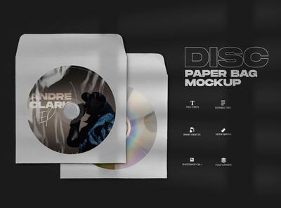 Disc Paper Bag Mockup