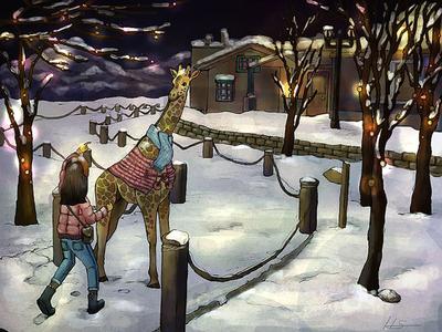 눈오는 날의 밤