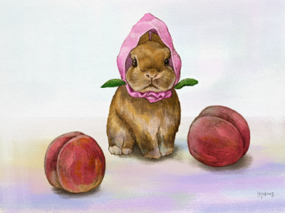 peach rabbit