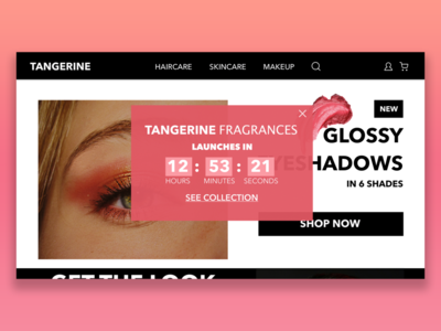 Overlay and Countdown dailyuichallenge cosmetics makeup website dailyui016 dailyui014 overlay countdown timer uidesign dailyui daily 100 challenge