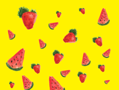 Vectorize Watercolor Fruit