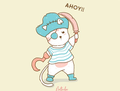 The Pirate cat, Ahoy!! Ahoy!!