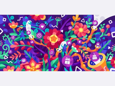 Iconfinder blogpost header creativity designers blossom blooming flowers colorful blogpost creative people icons bloom prosperity growth plants vector iconfinder