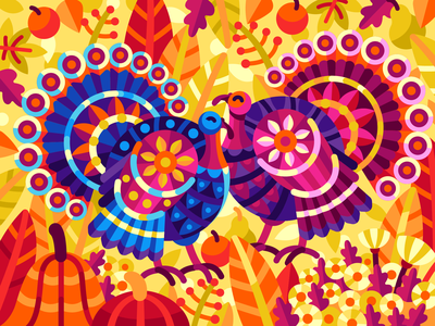 Colorful Turkeys abstract coloringbook mosaic bubbly-jock tom-turkey gobbler turkeycock thanksgiving day thanksgiving harvest fall autumn turkey vector coloring book vector illustration game illustration illustration