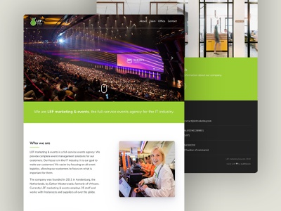 LEF marketing & events | Website agency events design sass html css html bootstrap wordpress website