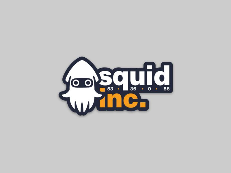 Squid inc. super mario squid stickermule sticker nintendo ink inc cmyk cloud blooper