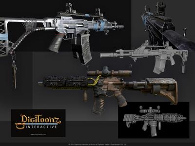 3D Game Asset Design - Modern warfare weapons