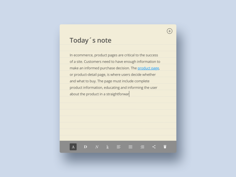 DailyUI 065 - Notes widget desktop app desktop notes widget notes daily ui daily ui challenge dailyui ui design user interface design ui
