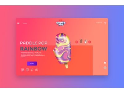 Ice Cream Web - Landing Page