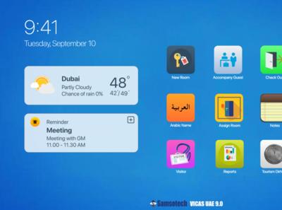 VICAS Desktop app interface (Touch Compatible) minimal app ux vector ui design illustration