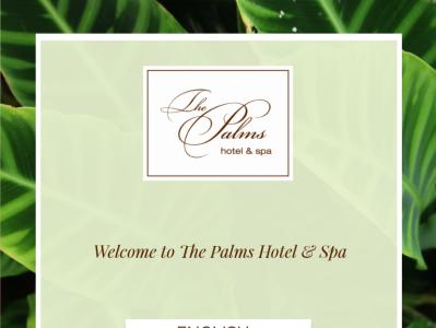 iPad welcome app for Hotel ui ux minimal illustration design