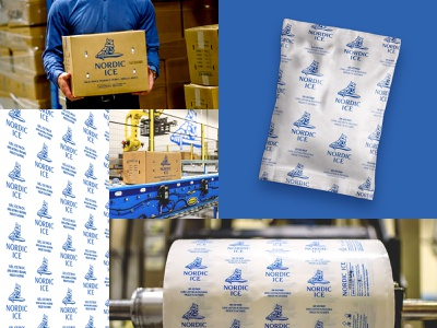 Nordic Ice — Packaging & Collateral pattern printed embroidered warehouse manufacturing design branding corporate industrial