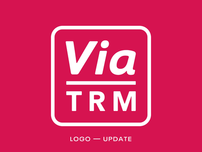 Via TRM Logo Update brand identity tech new refresh update design logo brand branding