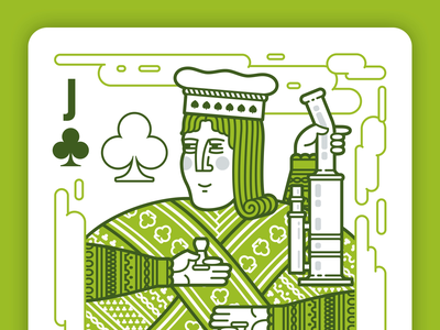 Jack of Clubs Illustration Build weed marijuana pot pipe bong character castle midievel animation illustration ace queen king jack playing cards