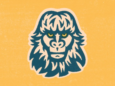 Bigfoot Head 2 animal character head face fur gorilla ape monkey explore nature wilderness yeti bigfoot
