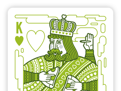 King of Hearts Build pizza illustration smoke marijuana pot weed crown midievel castle royalty suite playing cards hearts ace queen king character animation