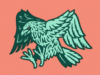 Flying Eagle mascotlogo mascot outdoors sky nature flying texture line bird illustration predator prey falcon eagle bird