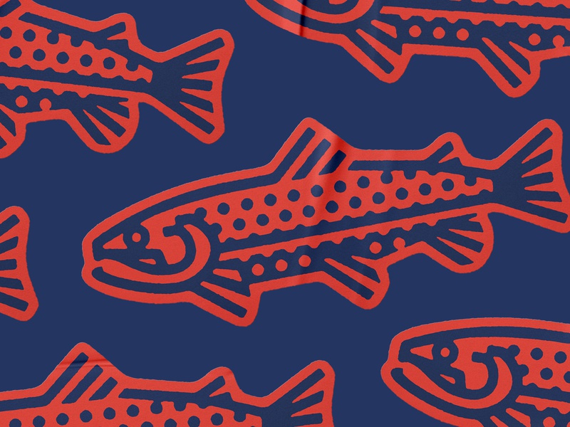 Yakoda Trout Sticker thick lines trout conservation nature stream fish sticker fly fishing