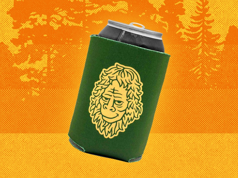 Yakoda Bigfoot Coozie river beer summer ui nature wilderness yeti bigfoot fly fishing