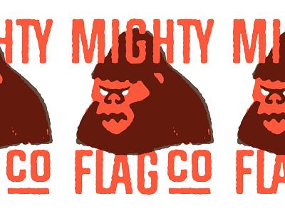 Mighty Flag Co. Logo Exp texture gorilla logo gorilla rough
