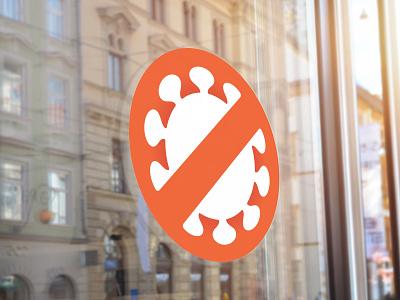 Covid-19 Prevention Icon circular circle universal symbol signage design icon pandemic disease covid-19 corona virus