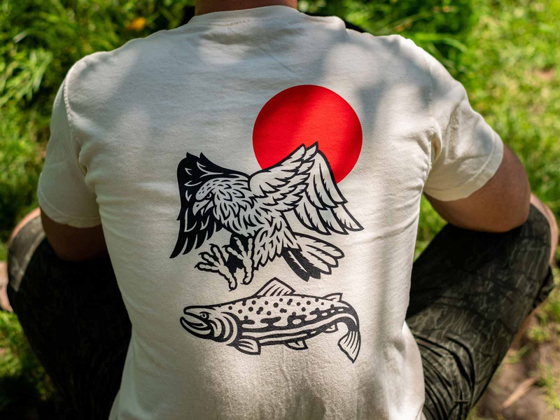 Rise Early Apparel & Goods fishing camping trout fish hawk eagle bird outdoors nature fly fishing