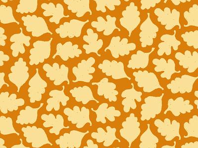 Leaves illustration repeat pattern flat leaves fall autumn