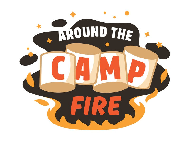 Campfire Flavor Preview 3d sparks flames fire camp outside night outdoors camping smores marshmallow flavor illustration campire dessert ice cream