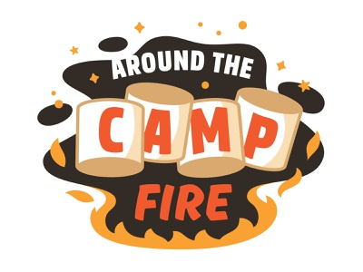 Campfire Flavor Preview burnt burn burning 3d sparks flames fire camp outside night outdoors camping smores marshmallow flavor illustration campire dessert ice cream