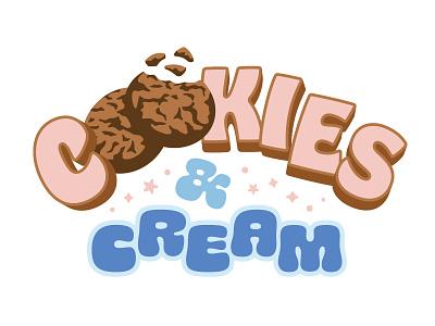 Cookies & Cream Flavor Preview type dessert snack crumb chunk illustration flavor ice cream cookies and cream cookie