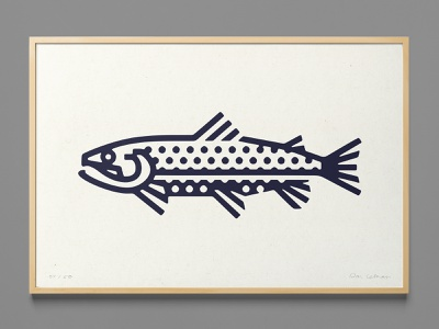 Minimal Trout Poster art poster species rainbow preservation wild outdoors creek stream nature fish illustration digital vector fly fishing trout