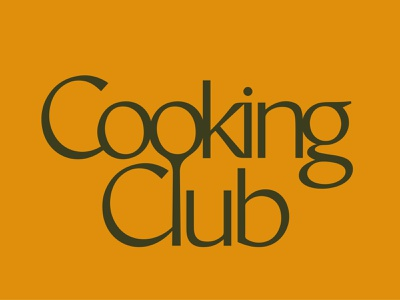 Cooking Club Logo ligature wordmark logotype logodesign vector food cooking cook logo branding brand identity