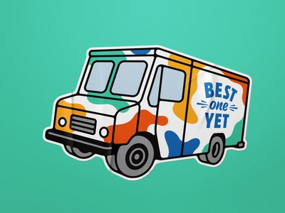 Best One Yet Truck Sticker advertising marketing promotion swag sticker illustration design ice cream truck ice cream truck